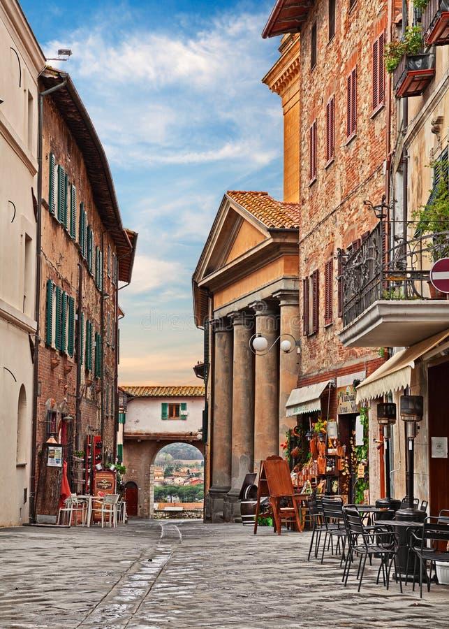 Castiglione del Lago, Perugia, Umbria, Italy: cityscape of the old town. Castiglione del Lago, Umbria, Italy: cityscape of the town on the Trasimeno lake with royalty free stock photo