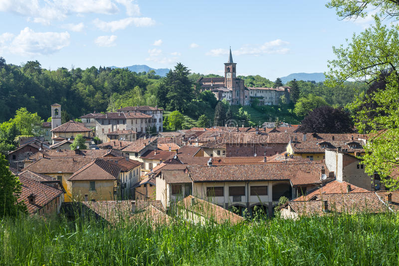 Castiglione Olona (Italy). Castiglione Olona (Varese, Lombardy, Italy) - View of the historic town royalty free stock photo
