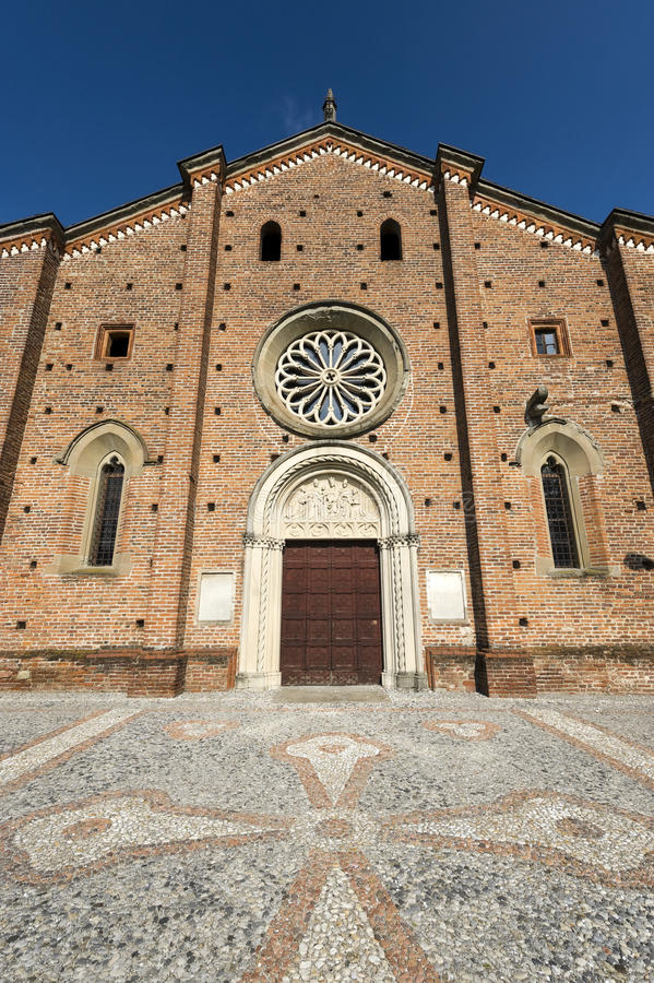 Castiglione Olona (Varese, Lombardy, Italy), the medieval Collegiata (church) stock image