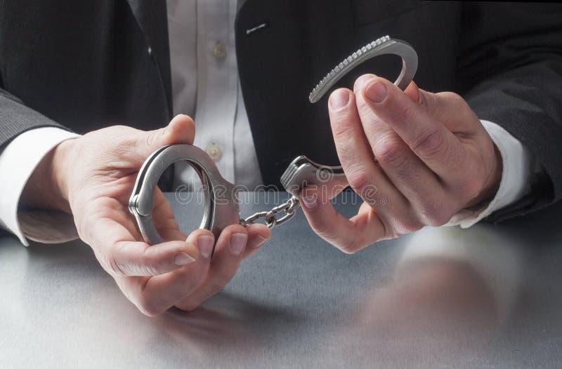 Castigo que pregunta del encargado en el trabajo imagen de archivo