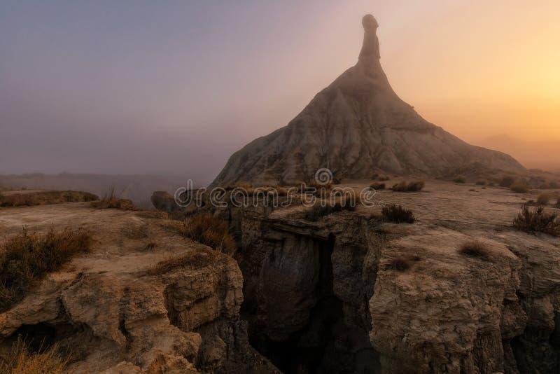 Castil de Tierra в пустыне Bardenas Reales стоковая фотография rf