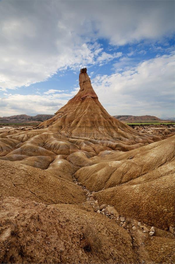 Castildetierra, deserto di Bardenas Reales fotografia stock libera da diritti