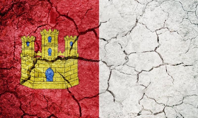 "Castilla†""LaMancha flagga royaltyfri illustrationer"