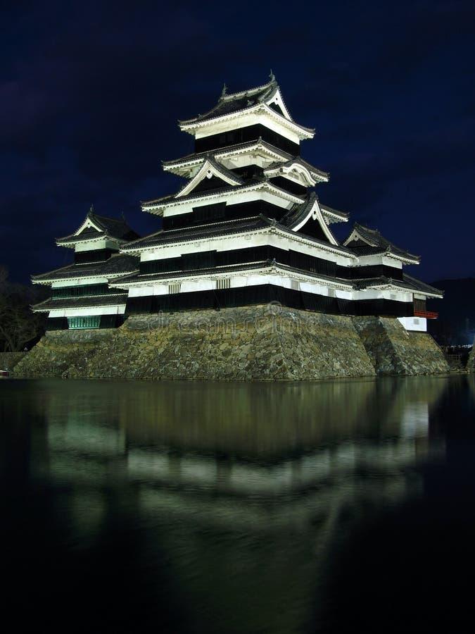 Castillo 03, Noche, Japón De Matsumoto Imagenes De Archivo