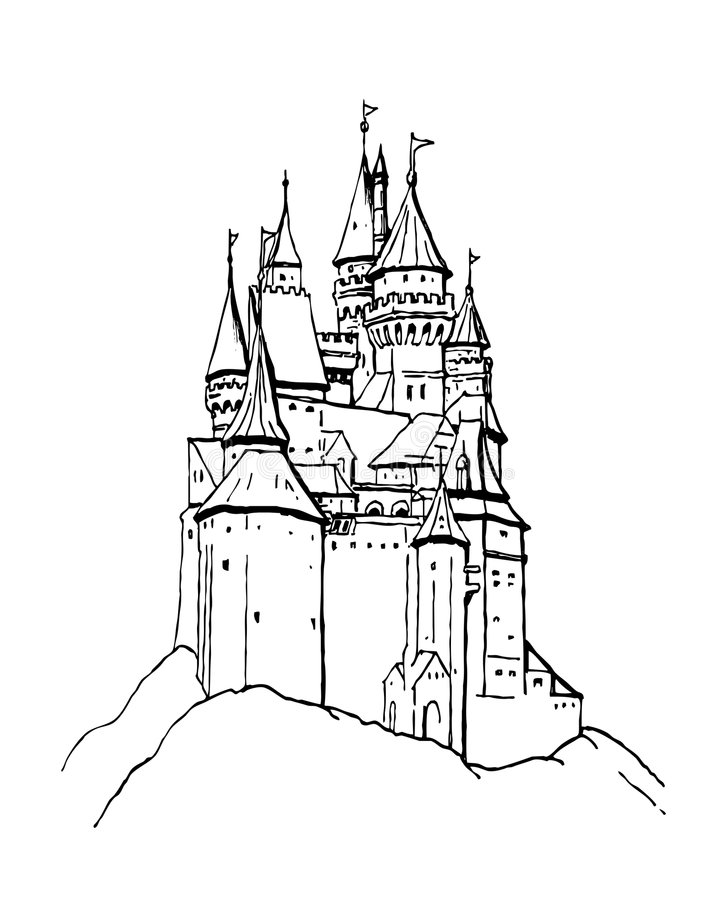 Castillo ilustración del vector