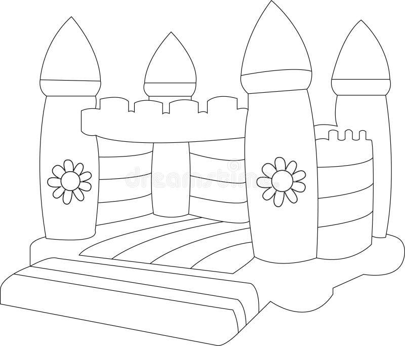 Castillo animoso en blanco stock de ilustración