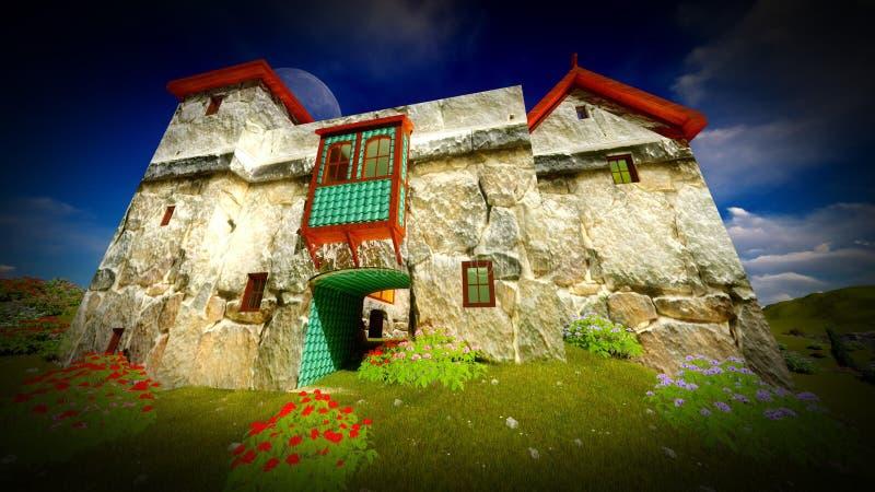 Castillo antiguo en la puesta del sol imágenes de archivo libres de regalías