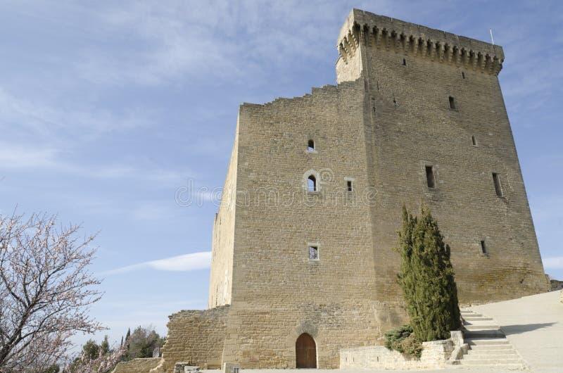 Castillo arruinado en Provence imágenes de archivo libres de regalías