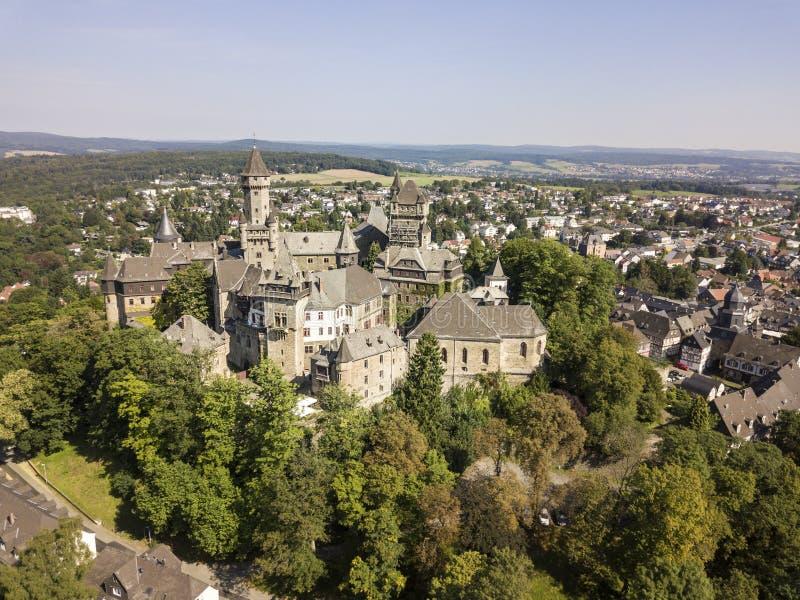 Castillo Braunfels, Hesse, Alemania imagenes de archivo