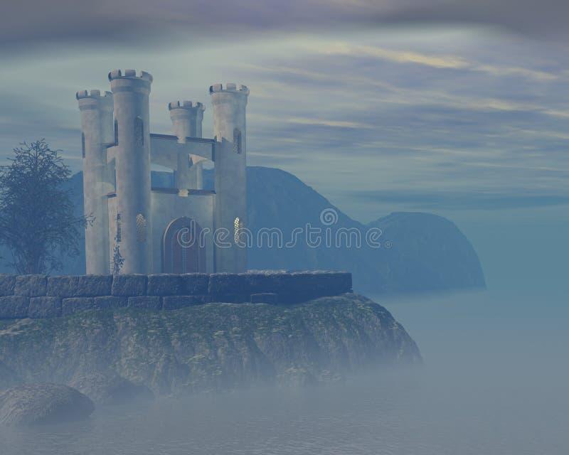 Castillo brumoso ilustración del vector