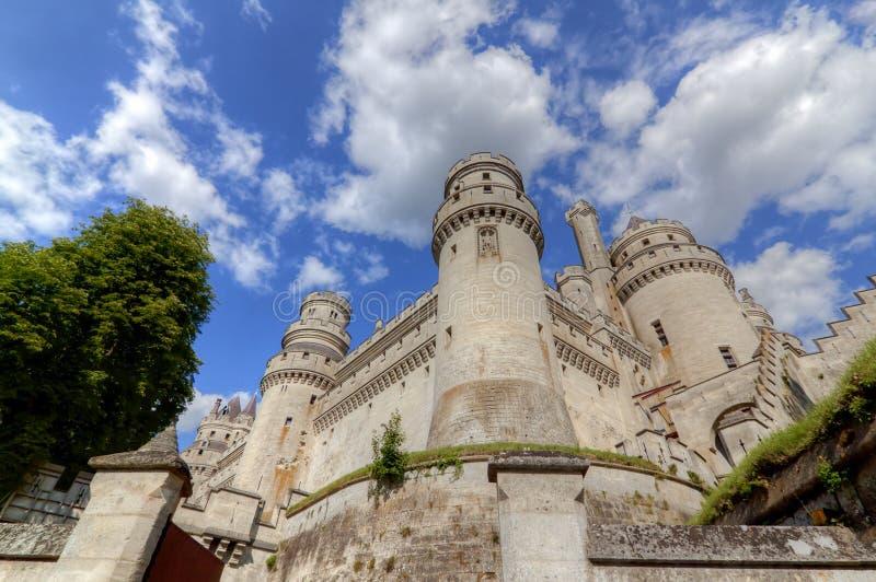 Castillo chateau de pierrefonds imagen de archivo