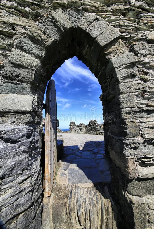 Castillo Cornualles Inglaterra de Tintagel imágenes de archivo libres de regalías