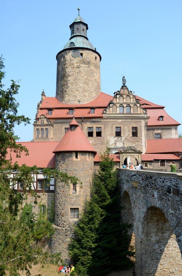 Castillo Czocha en Polonia fotografía de archivo