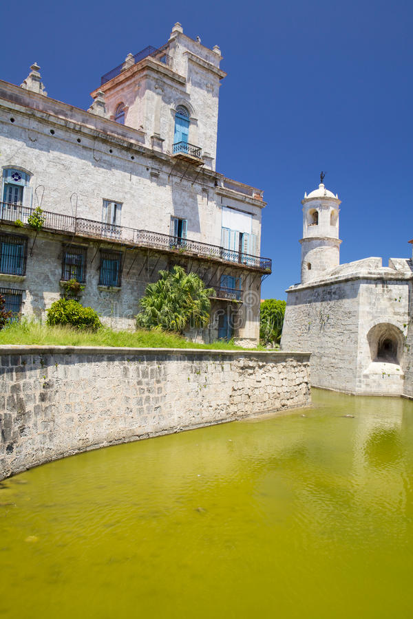 Castillo de Λα Real Fuerza, παλαιά Αβάνα, Κούβα στοκ φωτογραφίες