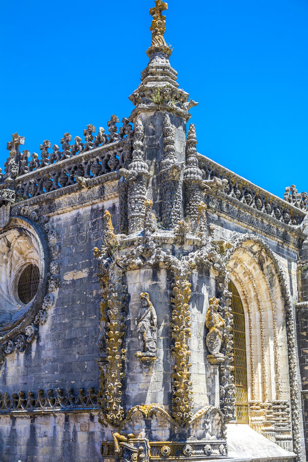 Castillo de 600 años antiguo en Tomar, Portugal imagen de archivo