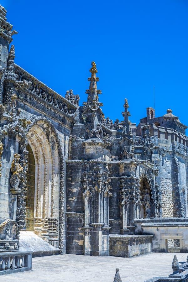 Castillo de 600 años antiguo en Tomar, Portugal fotografía de archivo