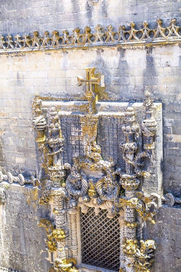 Castillo de 600 años antiguo en Tomar, Portugal fotos de archivo