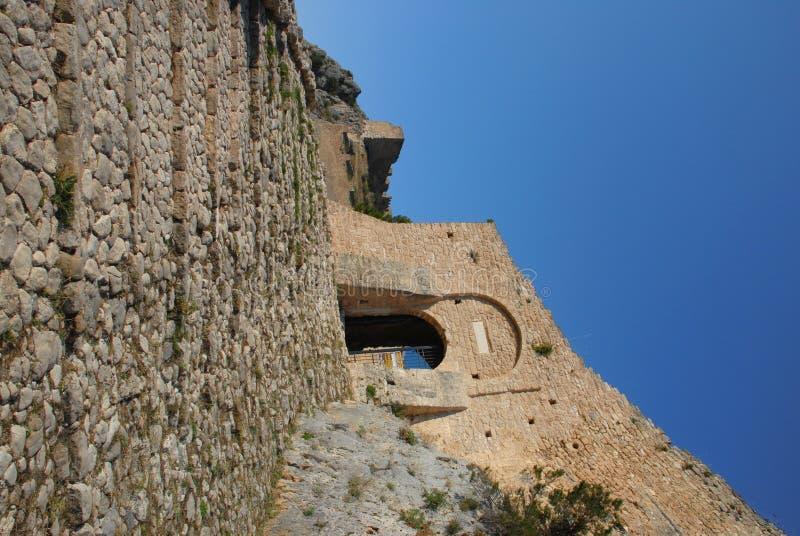 Castillo de Acrocorinth fotos de archivo