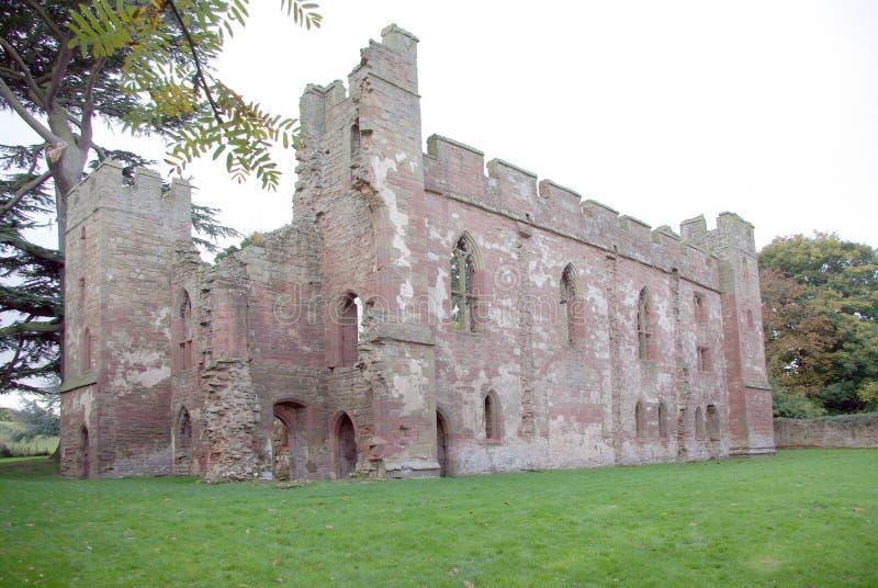 Castillo de Acton Burnell foto de archivo libre de regalías