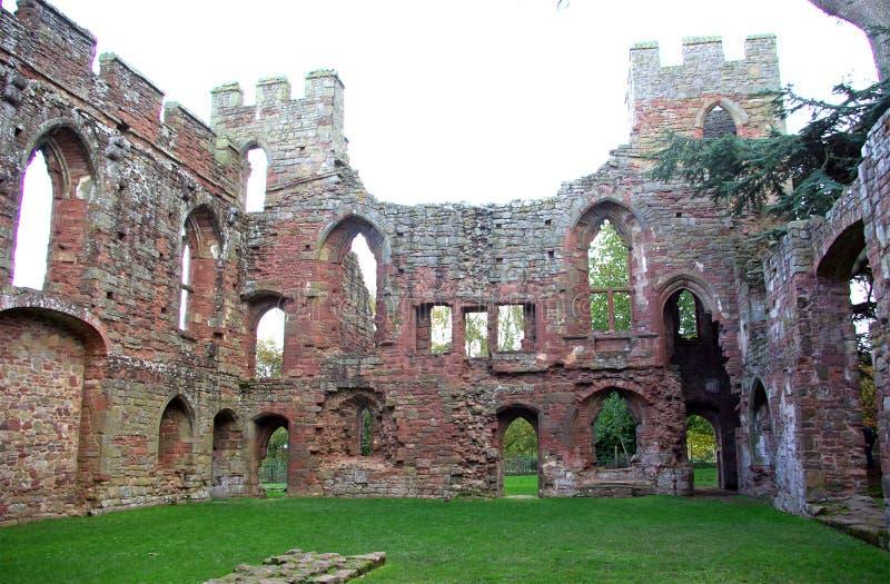 Castillo de Acton Burnell (oeste) fotos de archivo libres de regalías
