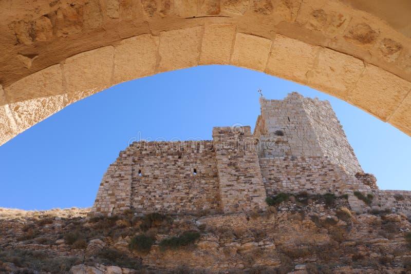 Castillo de Al Karak en el sur de Jordania fotografía de archivo libre de regalías