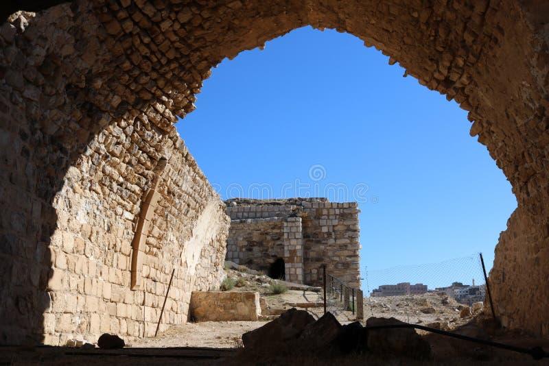 Castillo de Al Karak en el sur de Jordania imagen de archivo