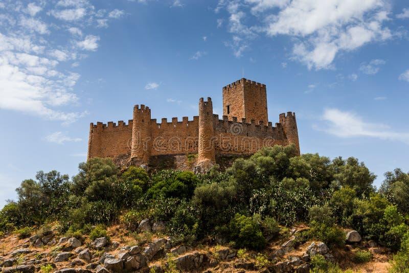 Castillo de Almourol, en la ciudad de Almourol, Portugal foto de archivo