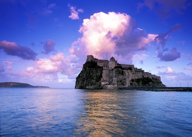 Castillo de Aragon foto de archivo libre de regalías