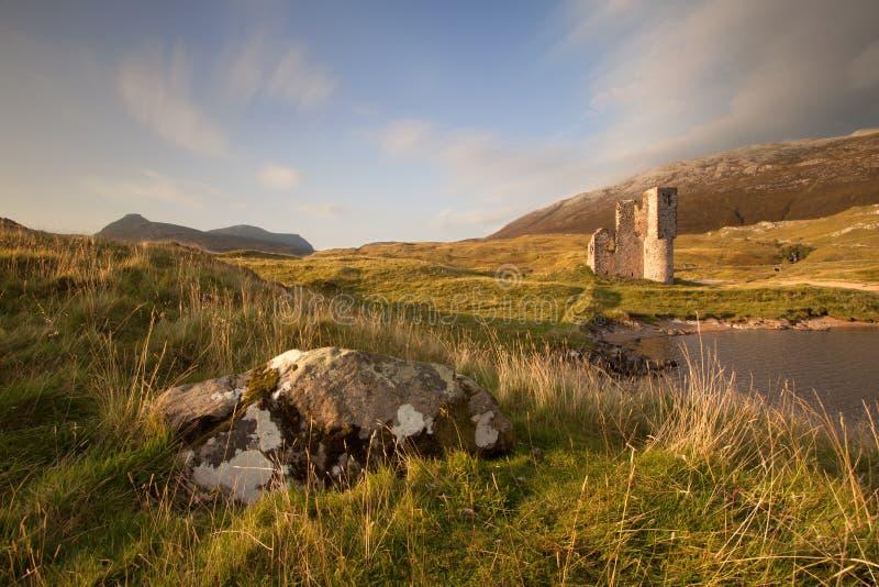 Castillo de Ardvreck, Sutherland, Escocia foto de archivo libre de regalías