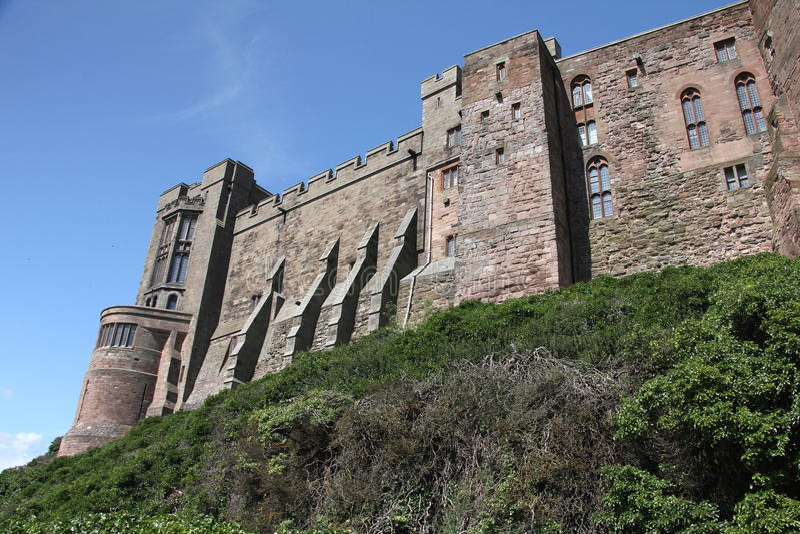 Castillo de Bamburgh imagenes de archivo
