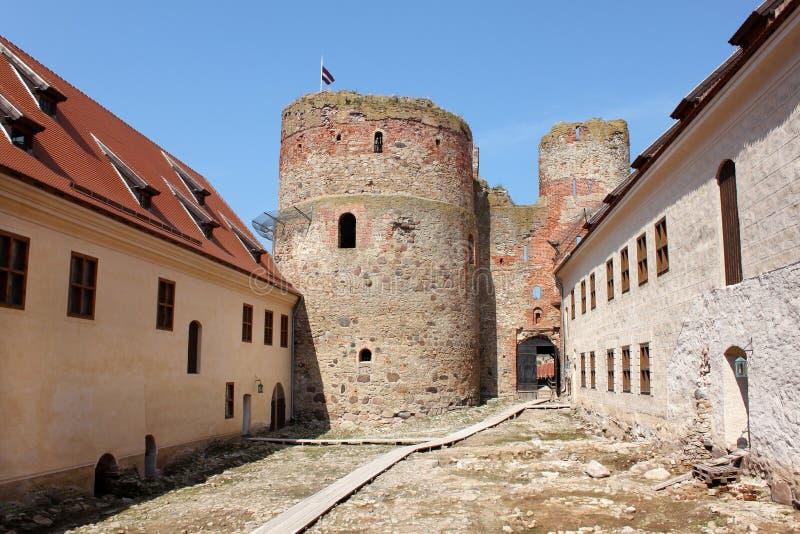 Castillo de Bauska fotografía de archivo libre de regalías