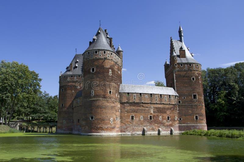 Castillo de Beersel en Bruselas foto de archivo