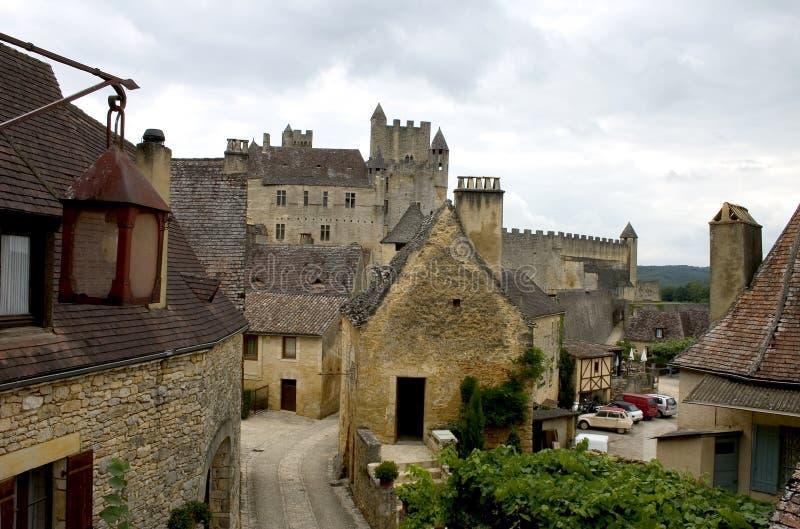 Castillo de Beynac, Francia fotografía de archivo libre de regalías