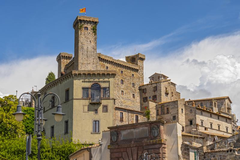 Castillo de Bolsena Castello Rocca Monaldeschi Viterbo, Italia foto de archivo libre de regalías