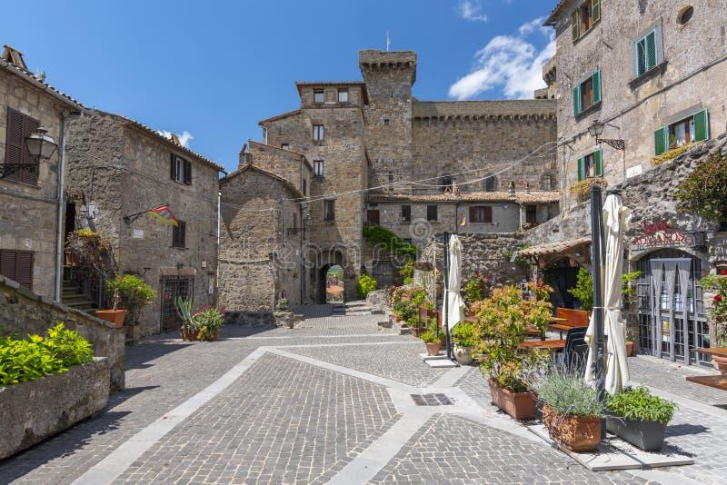 Castillo de Bolsena Castello Rocca Monaldeschi Viterbo, Italia imagen de archivo