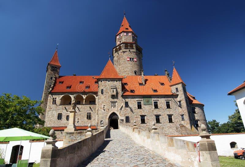 Castillo de Bouzov imagenes de archivo