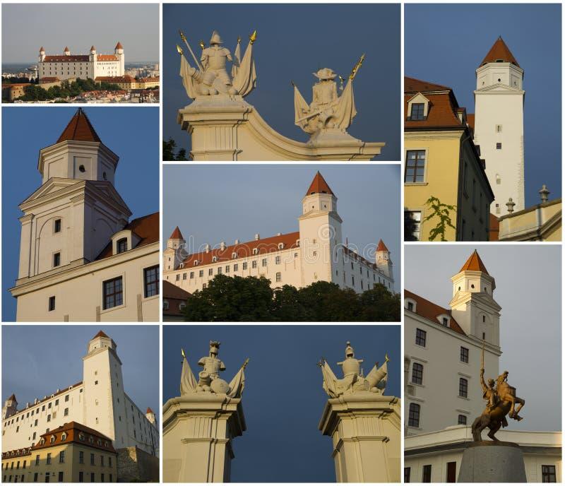 Castillo de Bratislava, collage foto de archivo libre de regalías