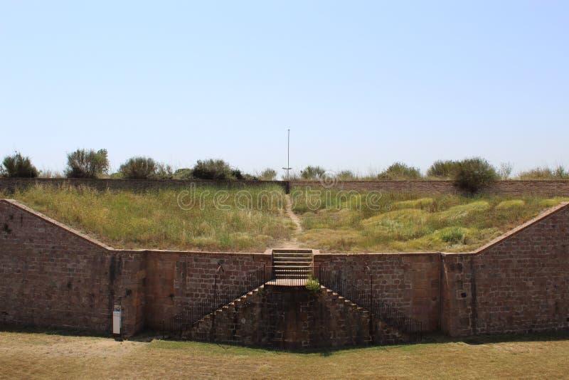 Castillo de campo vista Barcelona España imágenes de archivo libres de regalías