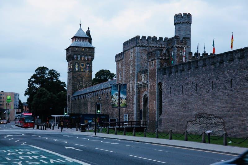 Castillo de Cardiff foto de archivo libre de regalías