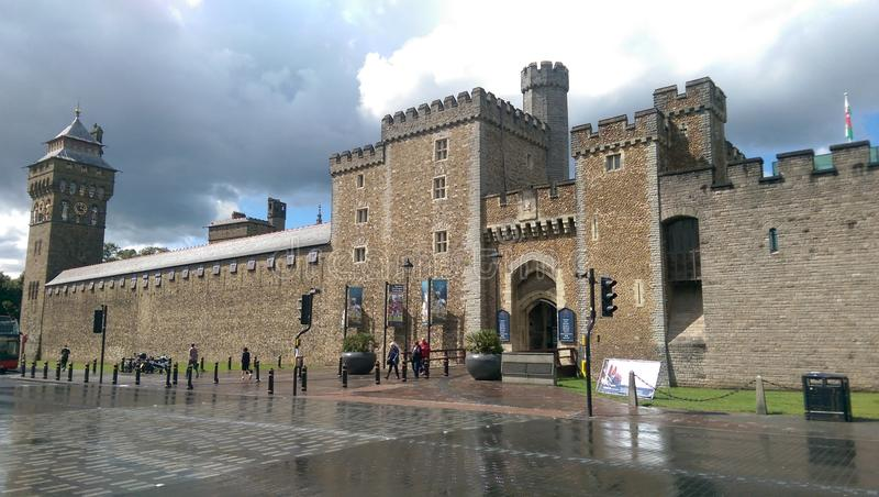 Castillo de Cardiff fotografía de archivo libre de regalías