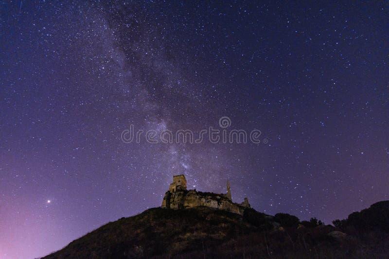 Castillo de Cefala Diana, Italia imagen de archivo