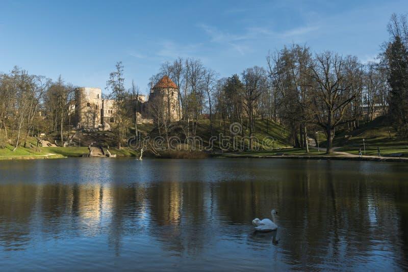 Castillo de Cesis imagen de archivo libre de regalías