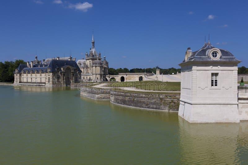Castillo de Chantilly, Picardie, Francia imagen de archivo