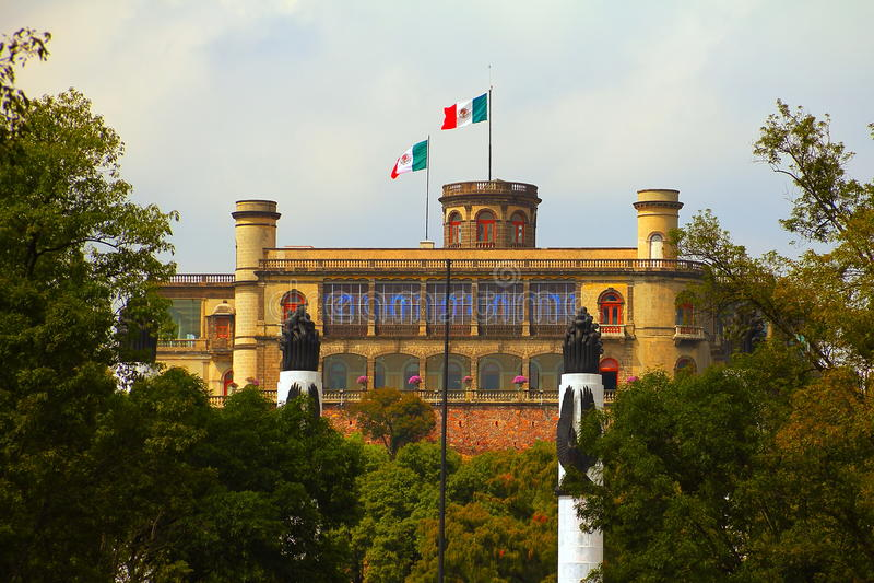 Castillo DE chapultepec II stock fotografie
