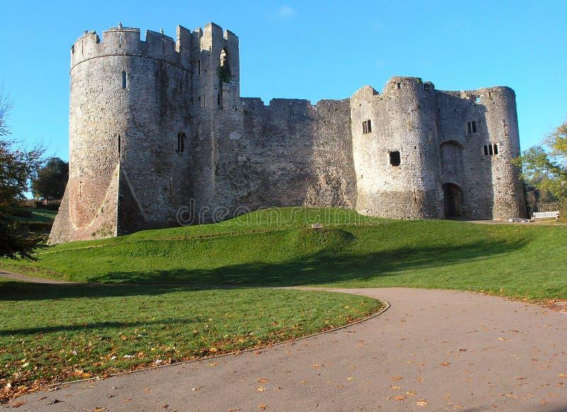 Castillo de Chepstow en octubre imagen de archivo
