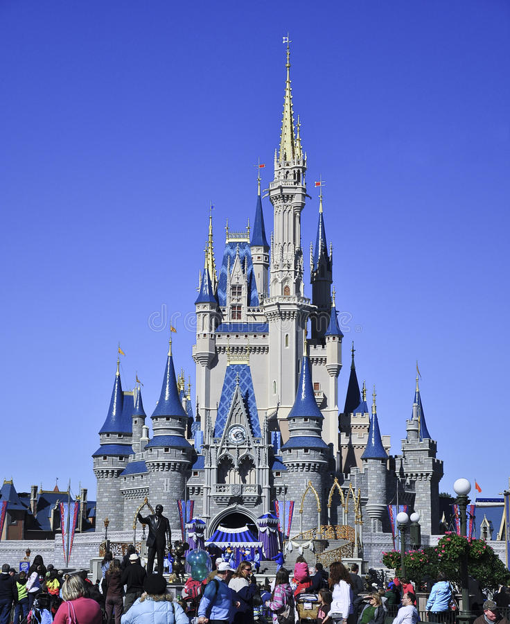 Castillo De Cinderella Foto editorial