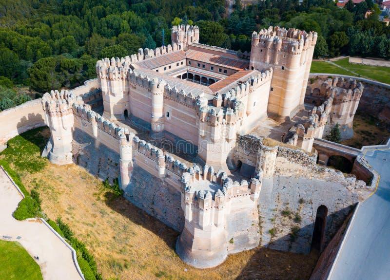 Castillo de Coca royalty free stock photography