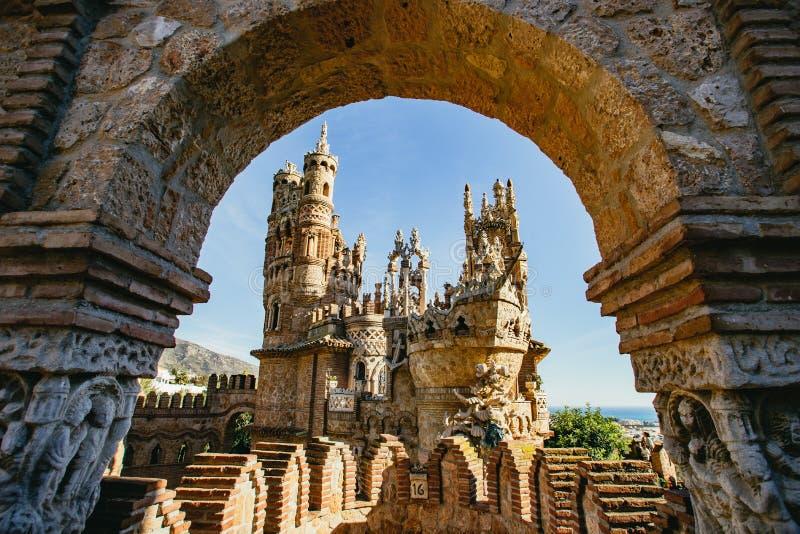 Castillo de Colomares Benalmadena, Malaga, Spanien royaltyfri bild