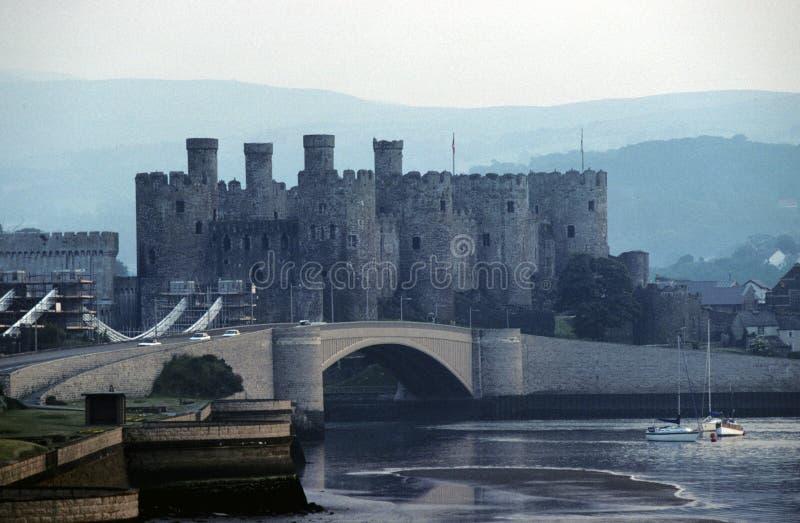 Castillo de Conwy fotos de archivo libres de regalías