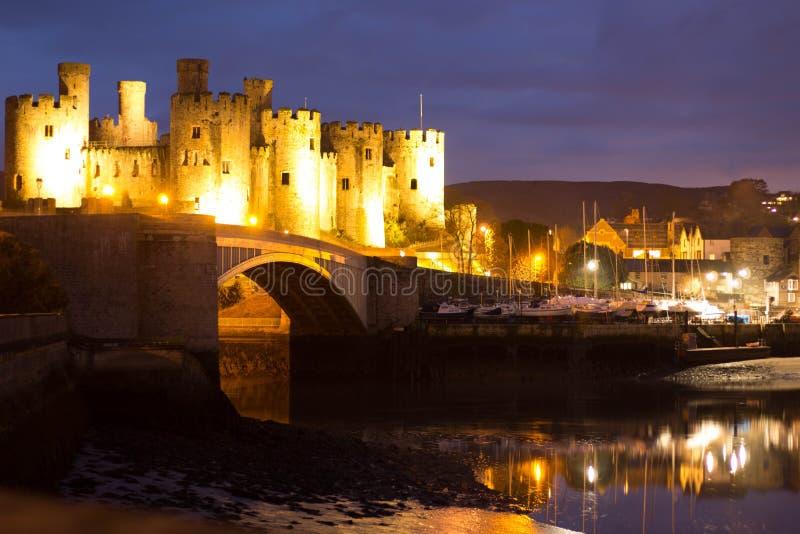 Castillo de Conwy, País de Gales imágenes de archivo libres de regalías